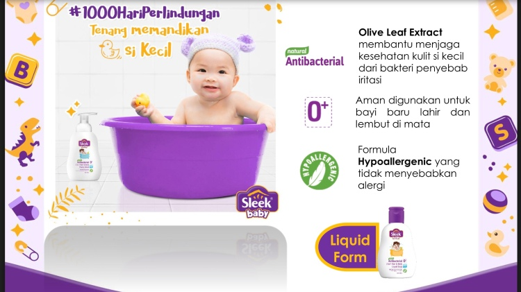 Sleek Baby 2 in 1 Hair & Body Foamy Wash